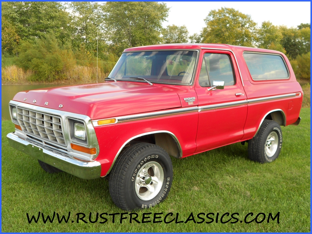 1979 Bronco Ranger XLT 4x4 351 automatic 79 Red